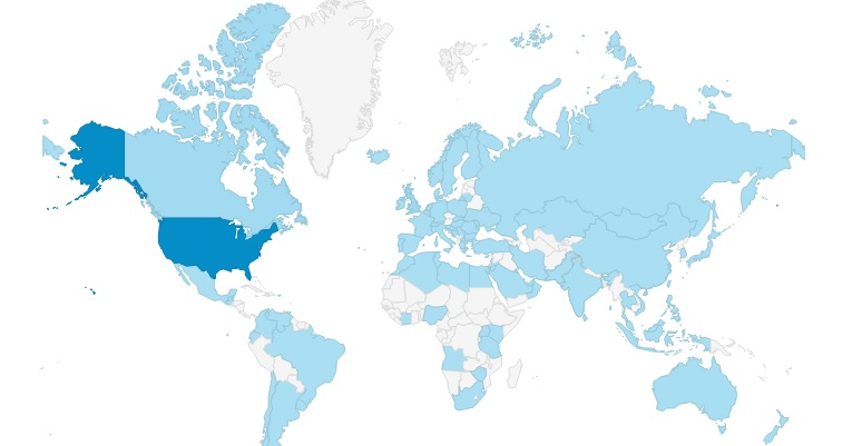 MAP of 94 countries WWMG reached in 2013